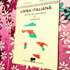 Limba italiană, noțiuni de gramatică și vocabular, 165 pagini, 10 lei