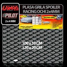 Plasa grila spoiler Racing Negru - Small 2x4 mm 100x33 cm Profesional Brand - Plasa aluminiu tuning