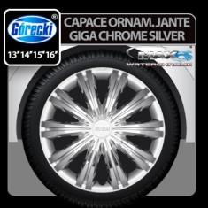 Capace ornament jante Giga chrome silver 4buc - 13' Profesional Brand - Capace Roti, R 13