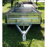 Remorca auto 2 axe 750 kg 260x135x40 basculabila *in rate *pe stoc* - Utilitare auto