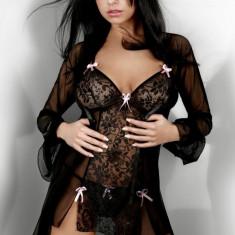 Rochie Transparentă Tatiana LivCo, Marime: S/M, Culoare: Negru