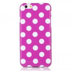 Husa Silicon, Polka Dots, Roz, iPhone 4/4S