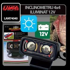 Inclinometru 4x4 iluminat 12V Profesional Brand - Ceas Auto