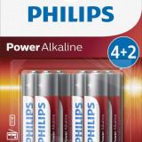 Philips Power Alkaline AA 4+2-blister PROMO