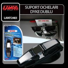 Suport ochelari soare Dyke dublu Profesional Brand - Ornamente interioare auto