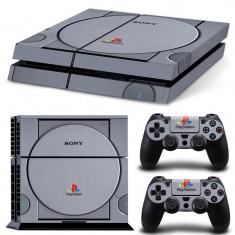 Skin Sticker PS4 - imitatie PS1 - Consola 2 controllere - PlayStation 4 |*|, Huse si skin-uri