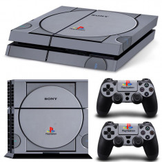 Skin Sticker PS4 - imitatie PS1 - Consola 2 controllere - PlayStation 4 |*|