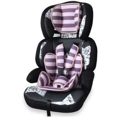 Scaun Auto Junior Premium 2016 Pink Black Stars foto