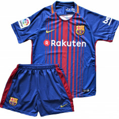 Compleu Echipament Fotbal FC BARCELONA MESSI MODEL 2018  copii 5 la 15 ani