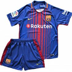 Compleu Echipament Fotbal FC BARCELONA MESSI MODEL 2018 copii 5 la 15 ani, Marime: YXXL, YXL, YL, YM, YS, YXS, Set echipament fotbal