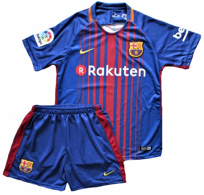 Compleu Echipament Fotbal FC BARCELONA MESSI MODEL 2018  copii 5 la 15 ani foto mare