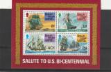 Bicentenar SUA ,corabii,Insulele Virgine britanice., Nestampilat