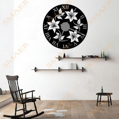 Ceas De Perete & Sticker - Flower