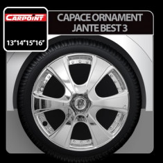 Capace ornament jante Best 3 4buc - Crom - 14' Profesional Brand - Capace Roti Carpoint, R 14