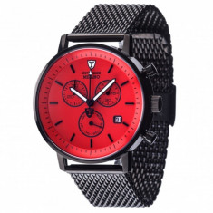 Ceas barbatesc Detomaso Milano Black/Red, Casual