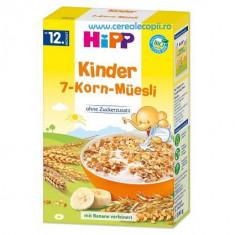 Cereale bebelusi Hipp Bio Musli 7 Cereale si Banane, fara lapte, de la 1 an - Cereale copii