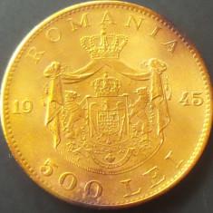 Moneda 500 Lei - ROMANIA, anul 1945 *cod 736 --- A. UNC - Moneda Romania