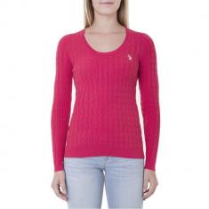 Bluza US POLO ASSN Pulover Knit - Bluze Dama, Femei - 100% AUTENTIC - Bluza dama US Polo Assn, Marime: XS, Culoare: Roz, Maneca lunga, Office, Bumbac