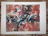 GRAVURA HARRY GUTTMAN, 5//MONOTIP, Abstract, Cerneala