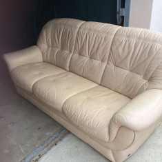 Set canapele din piele naturala - Canapea