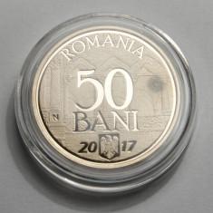 50 bani 2017 Aderarea UE - are din batere o pata la ora 3 - Moneda Romania