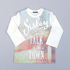Bluza cu imprimeu multicolor Sisley