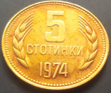 Moneda 5 Stotinki - BULGARIA, anul 1974 *cod 2926 a.UNC++, Europa