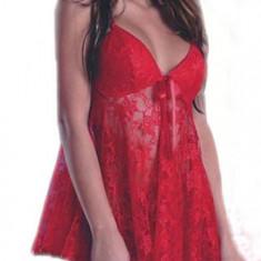 Lenjerie Intima Sexy Babydoll Pijama - Rosu L - 018 - Lenjerie sexy femei, Marime: L, Babydolls