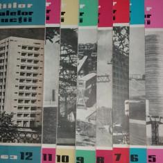 REVISTA CONSTRUCTIILOR SI A MATERIALELOR DE CONSTRUCTII 1-12 / 1963