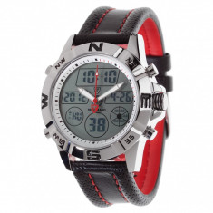 Ceas barbatesc Detomaso Duo Digital/Analog Silver, Casual