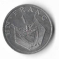 Moneda 1 franc 1985 - Rwanda, Africa