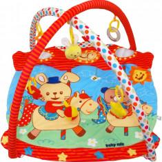 Saltea de joaca pentru copii Horse Carousel - Tarc de joaca Baby Mix, Multicolor