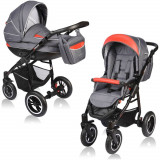 Carucior Crooner 2 in 1 - Vessanti - Red/Gray - Carucior copii 2 in 1