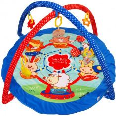 Saltea de joaca pentru copii Happy Circus - Tarc de joaca Baby Mix, Multicolor