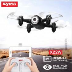 Minidrona Syma X22W, camera HD 720P, FPV, Mentinere altitudine, GARANTIE! - Avion de jucarie