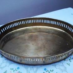 TAVA MARE CU BORDURA, ALAMA MASIVA. - Metal/Fonta, Vase