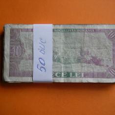 10 LEI 1966 LOT DE 50 BUC. - Bancnota romaneasca