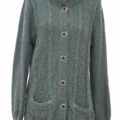 Cardigam/ jerseu vintage Escada - Pulover dama, Marime: M/L, Culoare: Verde, Cardigan, Acril