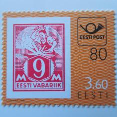 ESTONIA-TIMBRU PE TIMBRU-COMPLET,NESTAMPILAT