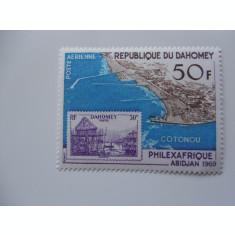 DAHOMEY-TIMBRU PE TIMBRU-COMPLET,NESTAMPILAT