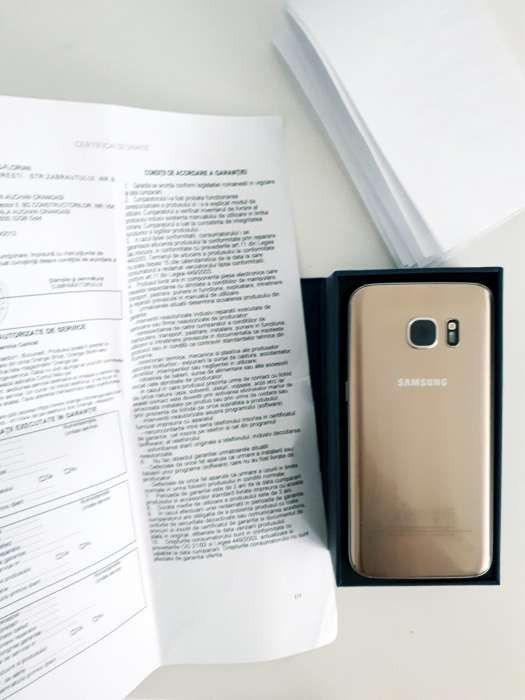 Samsung Galaxy S7 Gold - Factura si Garantie Orange foto mare