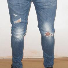 Blugi Originali ZARA MAM Skinny / Slim fit W 34 L 32 ( Talie 91 / Lungime 108 ) - Blugi barbati, Culoare: Din imagine, Normal
