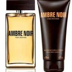 SET AMBRE Noir Yves Rocher - Parfum barbati Yves Rocher, Apa de parfum, 100 ml