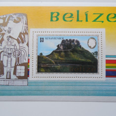 BELIZE-ARHEOLOGIE,MONUMENT MAYA-BLOC NESTAMPILAT