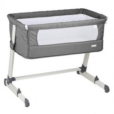 Patut Co-Sleeper 2 in 1 Together Grey - Patut pliant bebelusi BabyGo