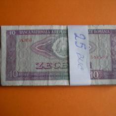 10 LEI 1966 LOT DE 25 BUC. - Bancnota romaneasca