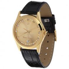 Ceas original Yves Camani Twinkle Black/Gold - Ceas dama Yves Camani, Elegant