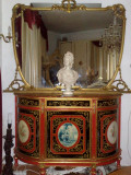Comoda cu oglinda,unicat,pictata manual,BAROC,Italia/mobila veche/antica, Comode si bufete, 1900 - 1949
