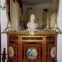 Comoda cu oglinda, UNICAT,pictata,STIL NEOCLASIC/BAROC, Comode si bufete, 1900 - 1949