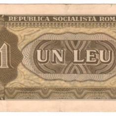 SV * Romania RSR 1 LEU 1966 F + / - VF - Bancnota romaneasca